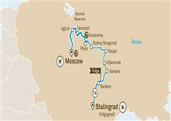 Imperial Russia Moscow to Stalingrad (Volgograd) 2019