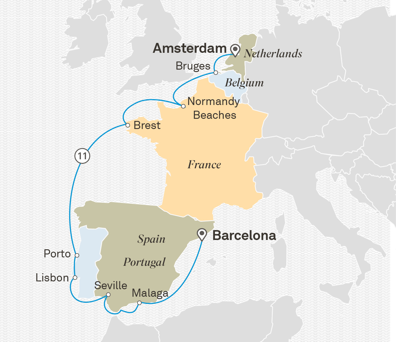 Great Seafaring Nations Barcelona to Amsterdam 2020