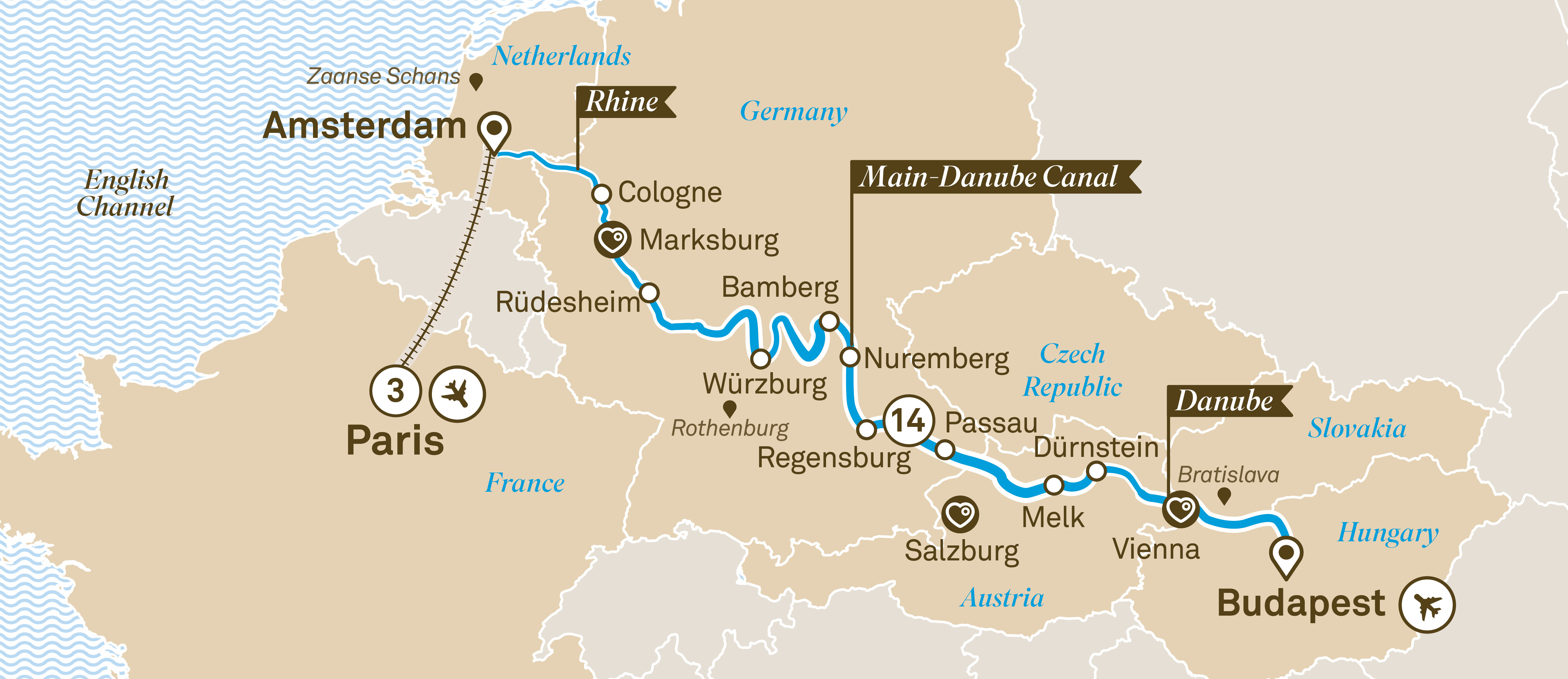 Jewels of Europe with Paris Budapest to Paris 2019