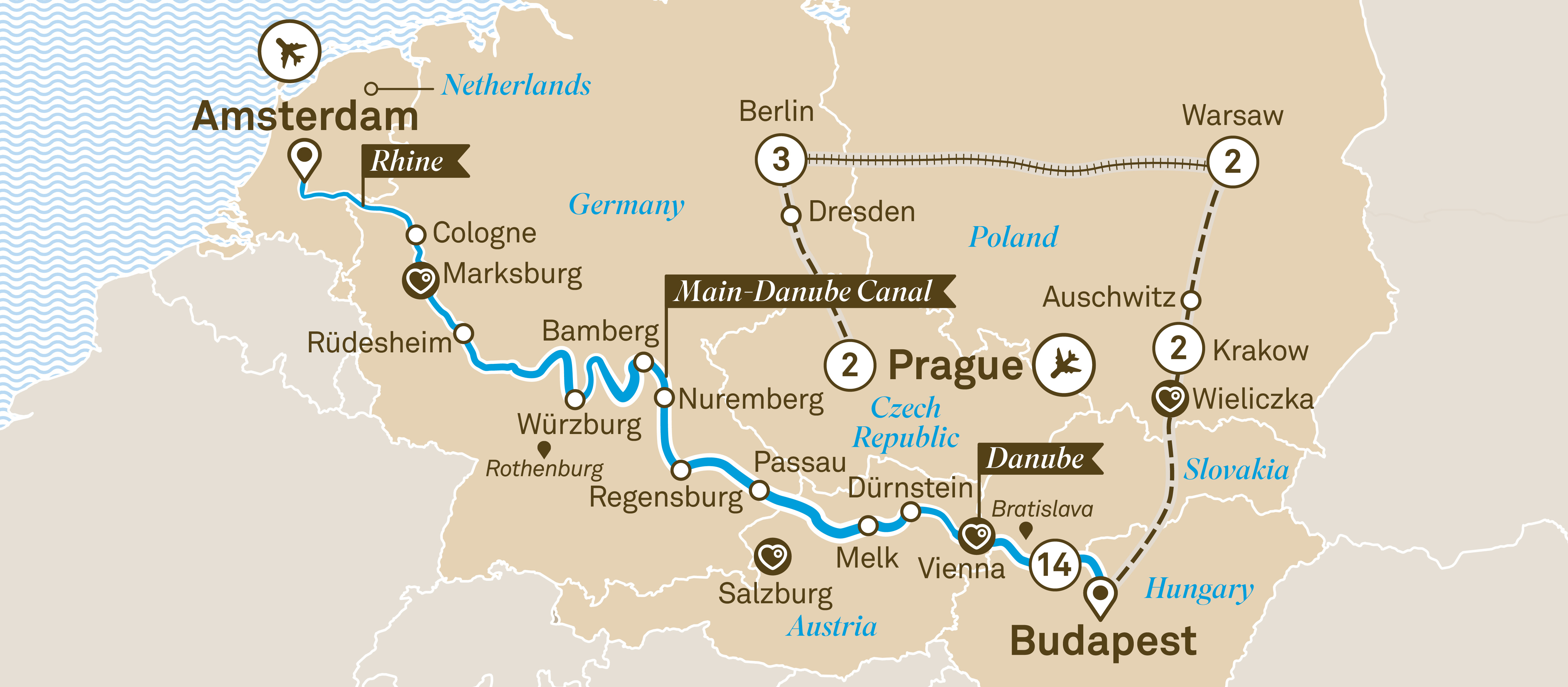 Jewels of Europe with Eastern Europe Explorer Prague to Amsterdam 2019