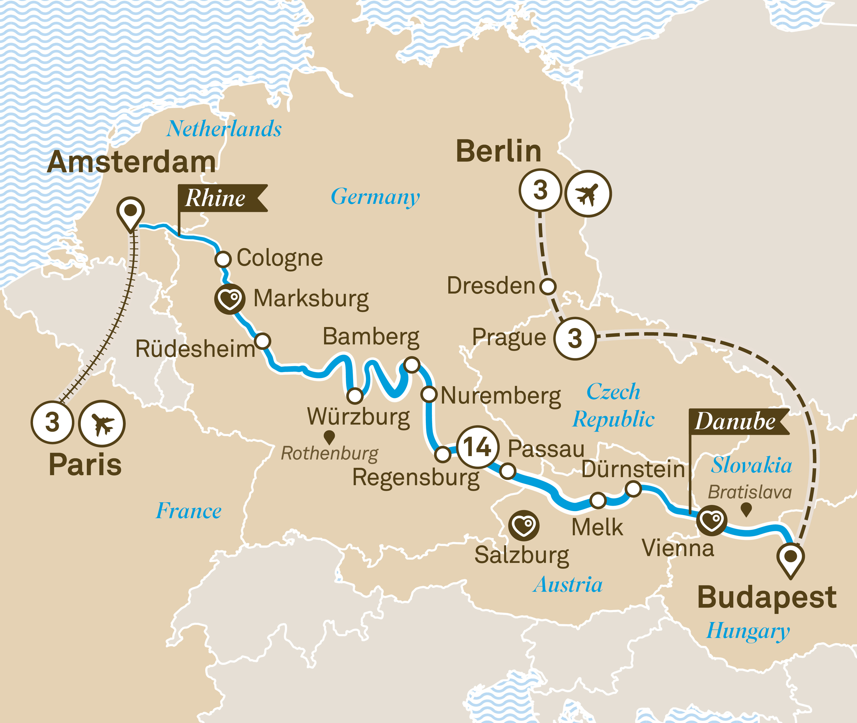 Jewels of Europe with City Highlights Paris to Berlin 2019
