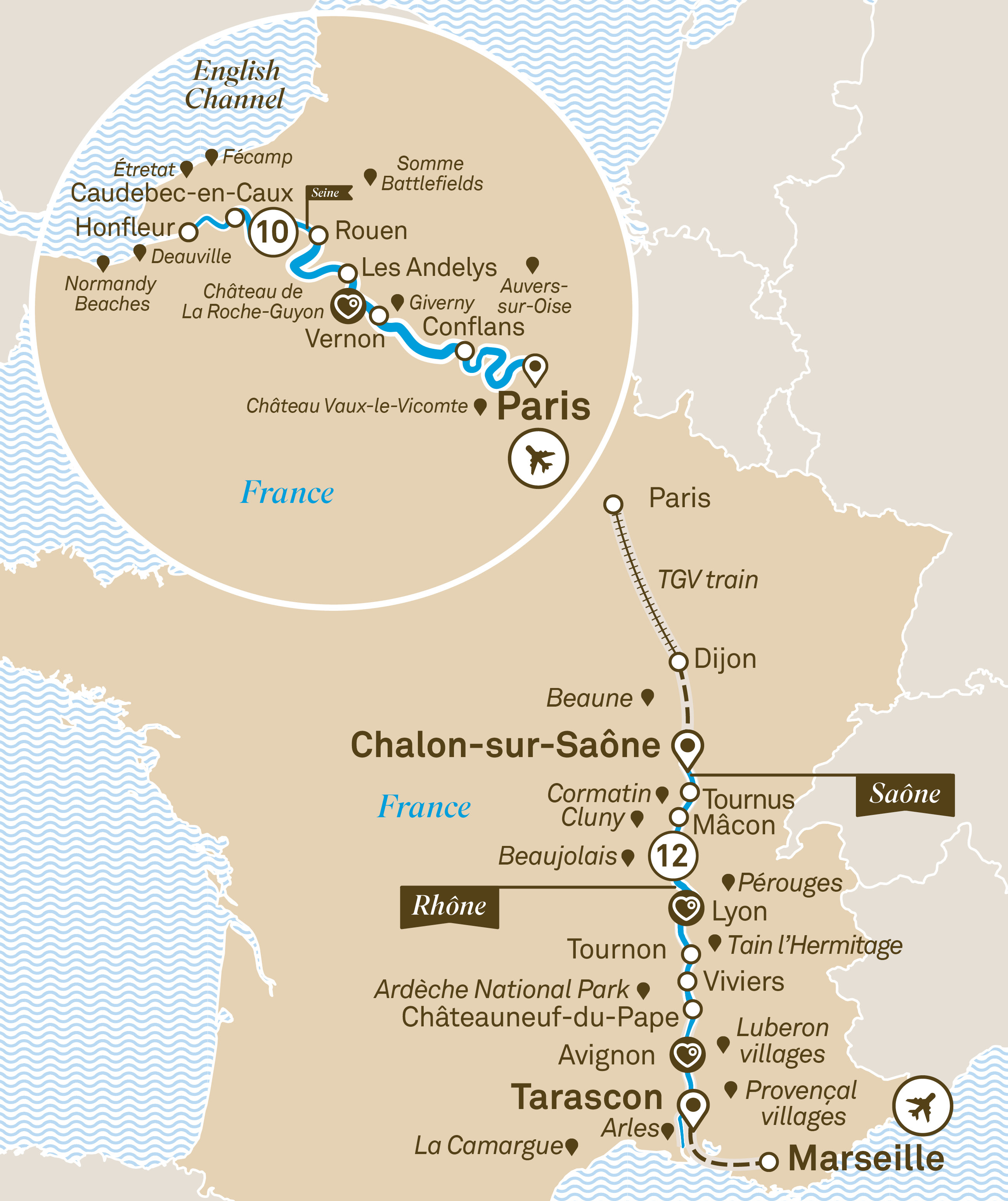 Gems of the Seine & South of France Paris to Nice 2019