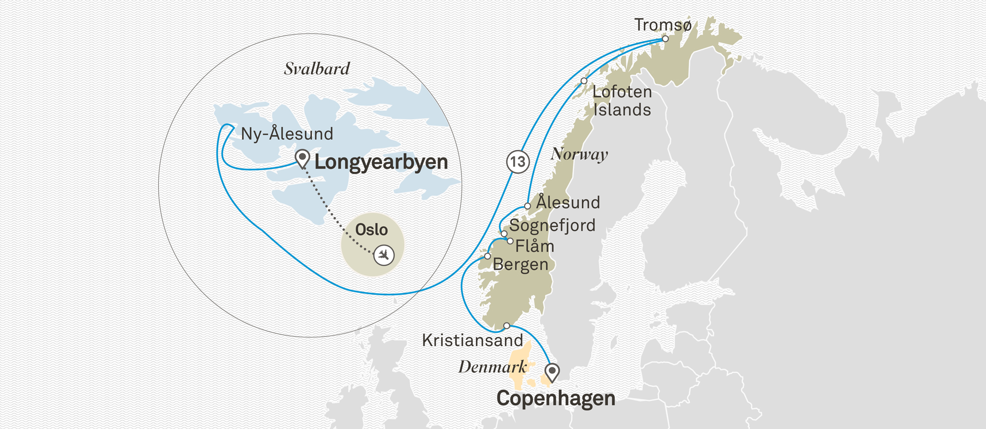 Across the Arctic Circle Copenhagen to Oslo 2020