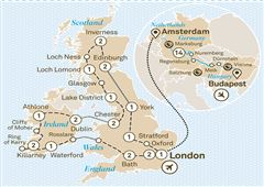 Jewels of Europe with Majestic Britain & Ireland London to Budapest 2019