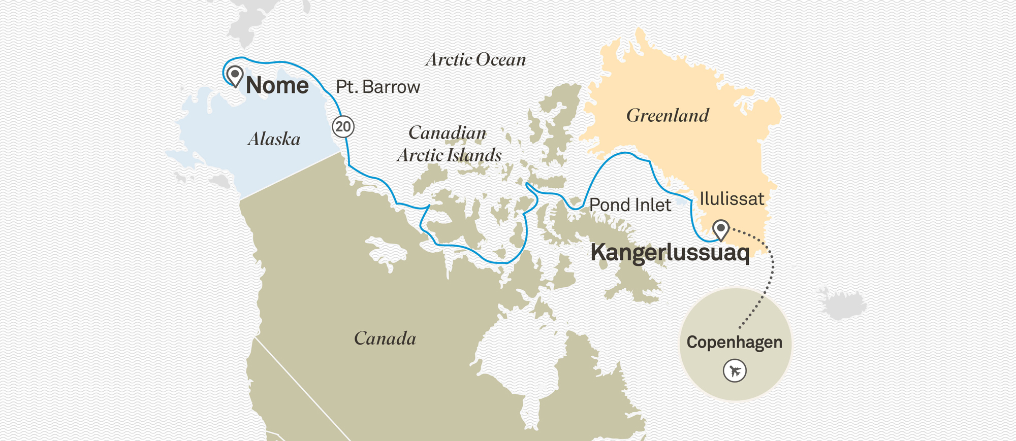 Across the Northwest Passage Copenhagen to Nome 2020