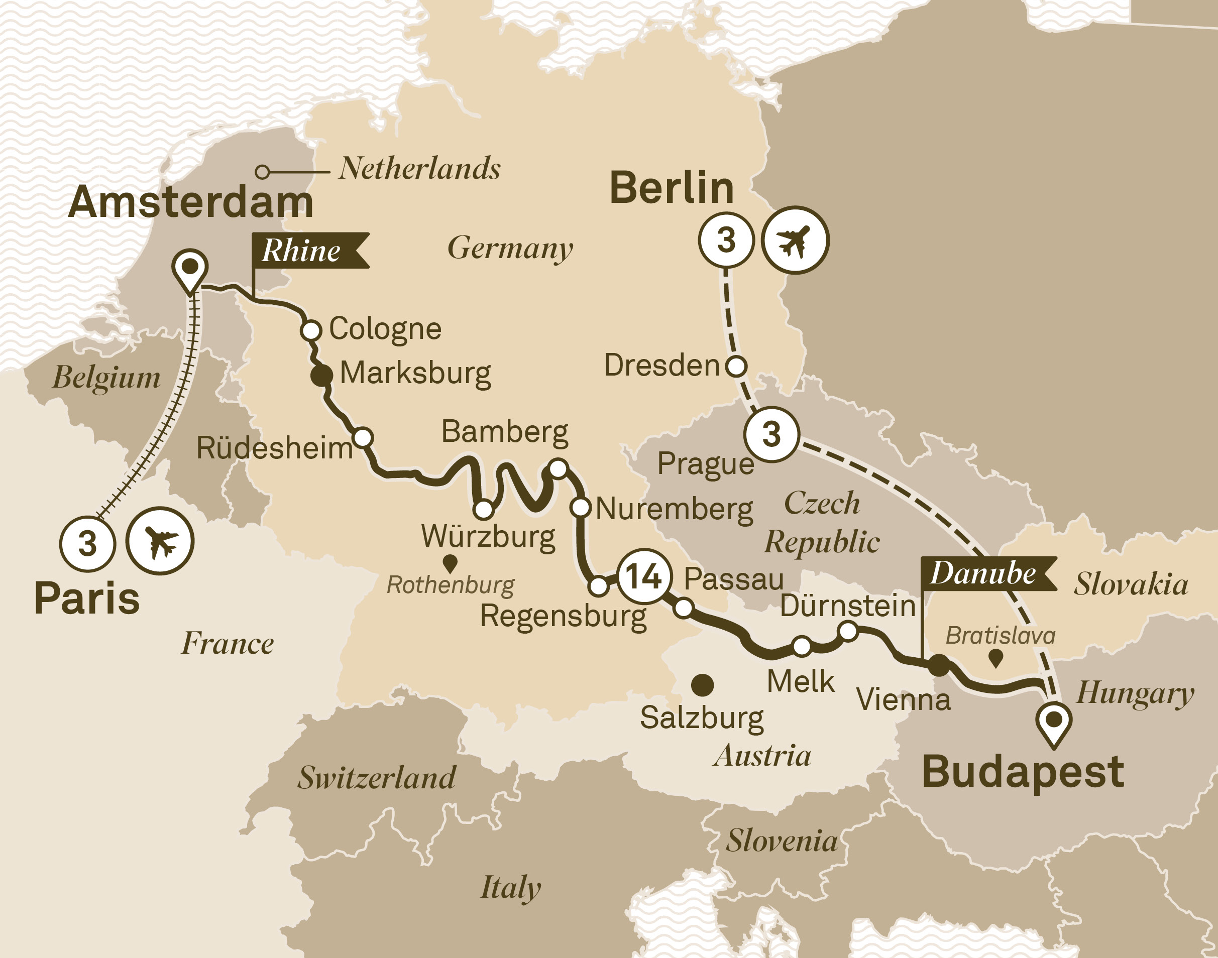 Jewels of Europe with City Highlights Paris to Berlin 2018
