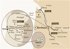 Beautiful Bordeaux & Unforgettable Douro with Madrid Bordeaux to Madrid 2018