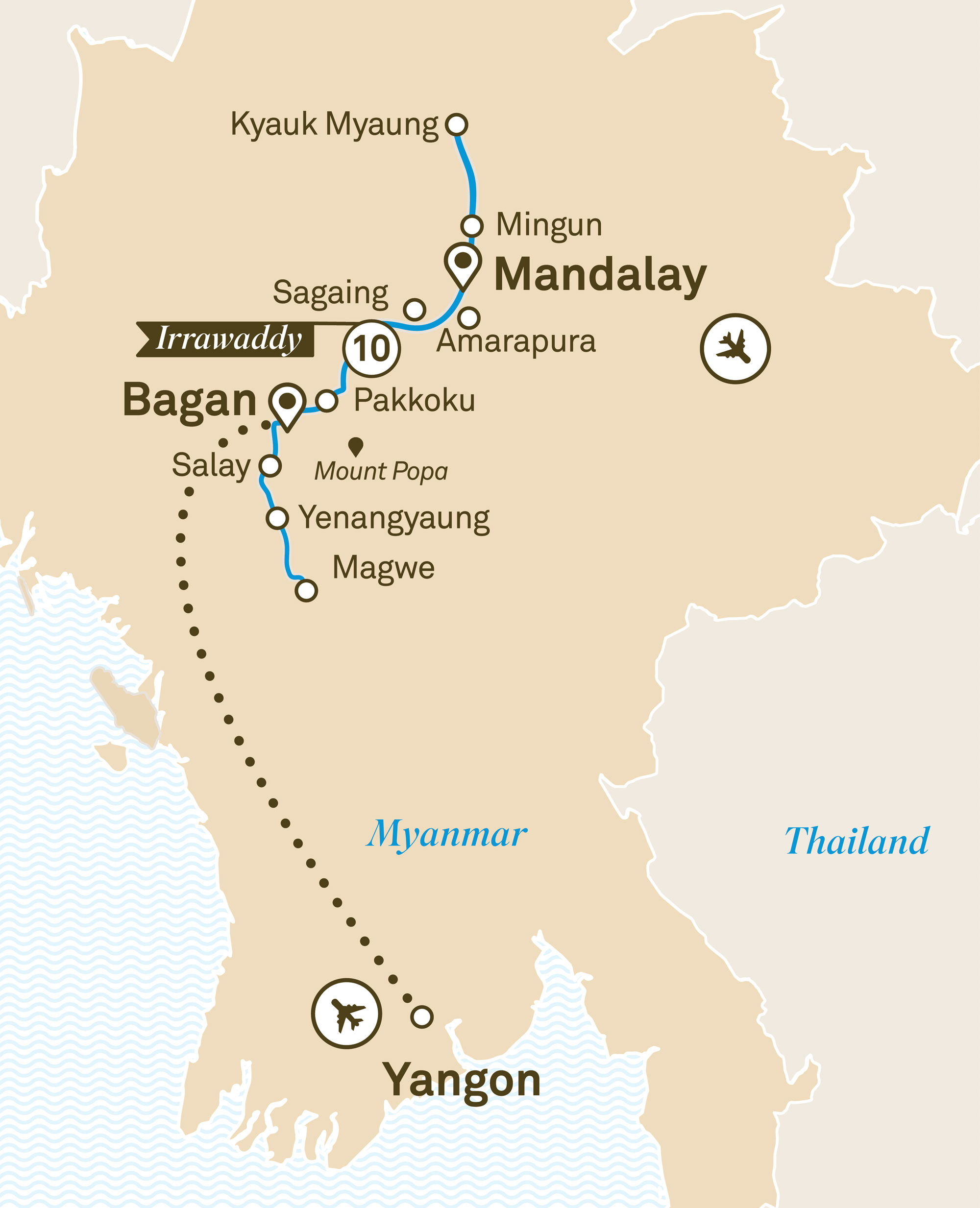 Luxury Irrawaddy Yangon to Mandalay 2019