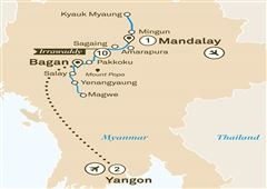 Mystical Irrawaddy Yangon to Mandalay 2019