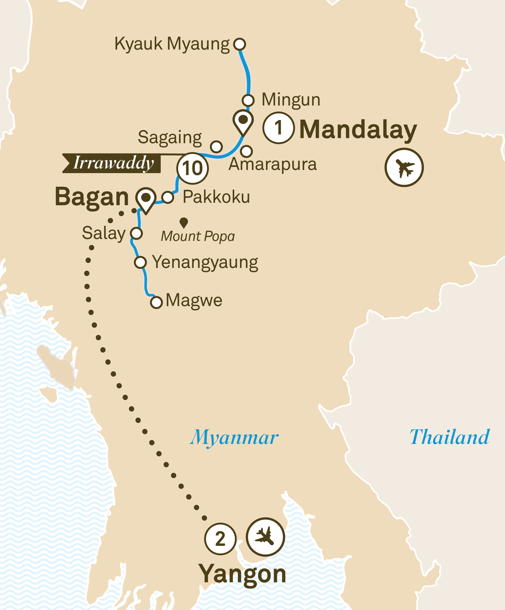 Mystical Irrawaddy Mandalay to Yangon 2019