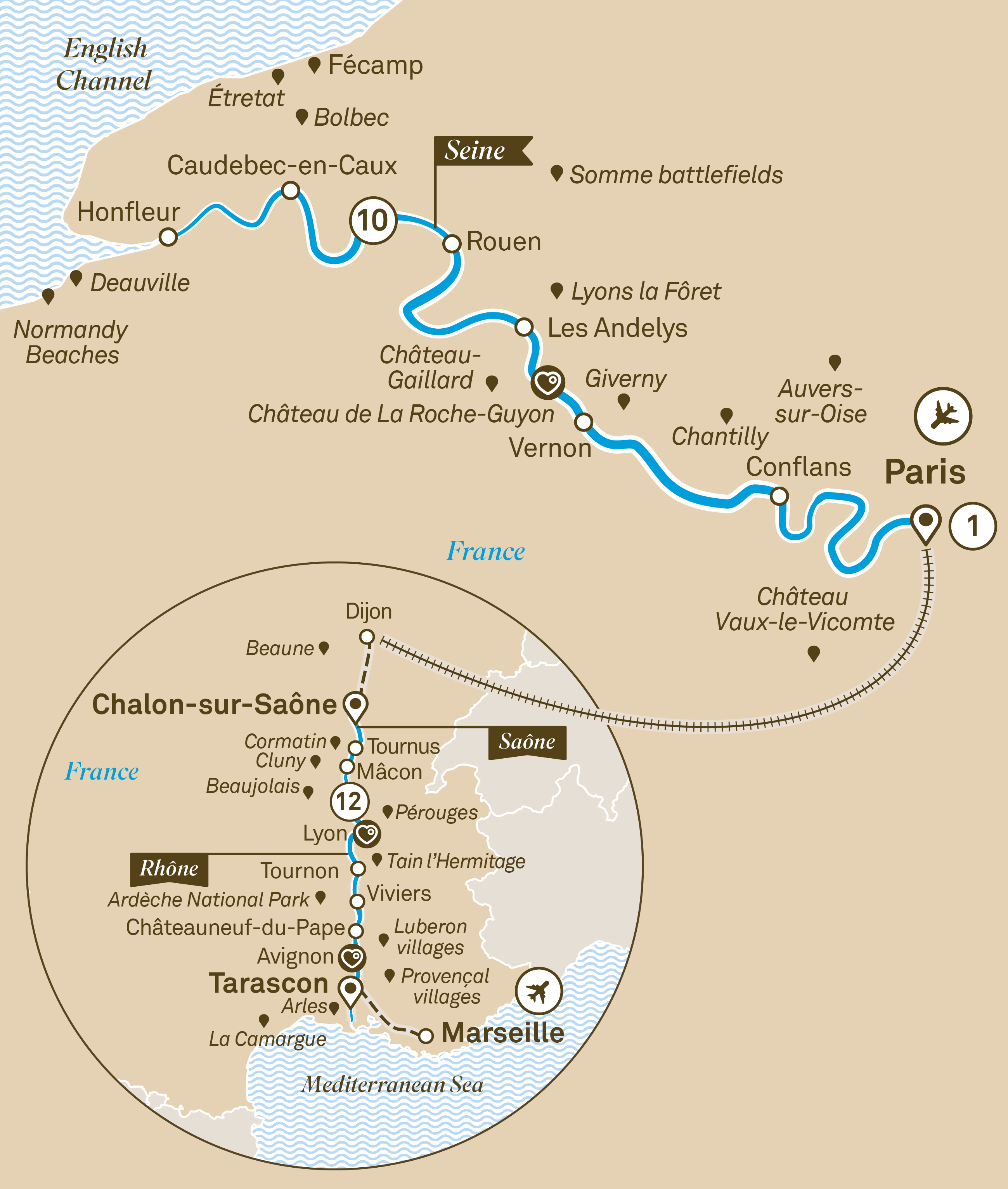Gems of the Seine & Spectacular South of France Paris to Nice 2019