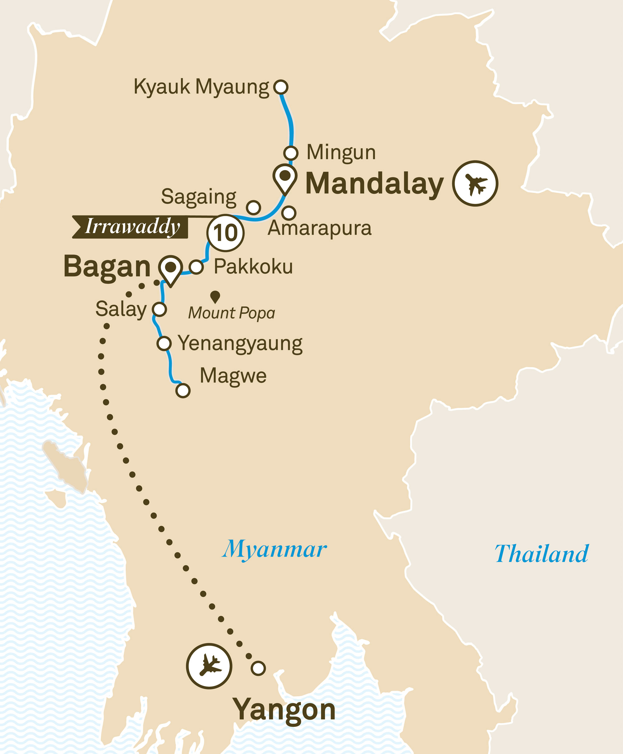 Luxury Irrawaddy Mandalay to Yangon 2019
