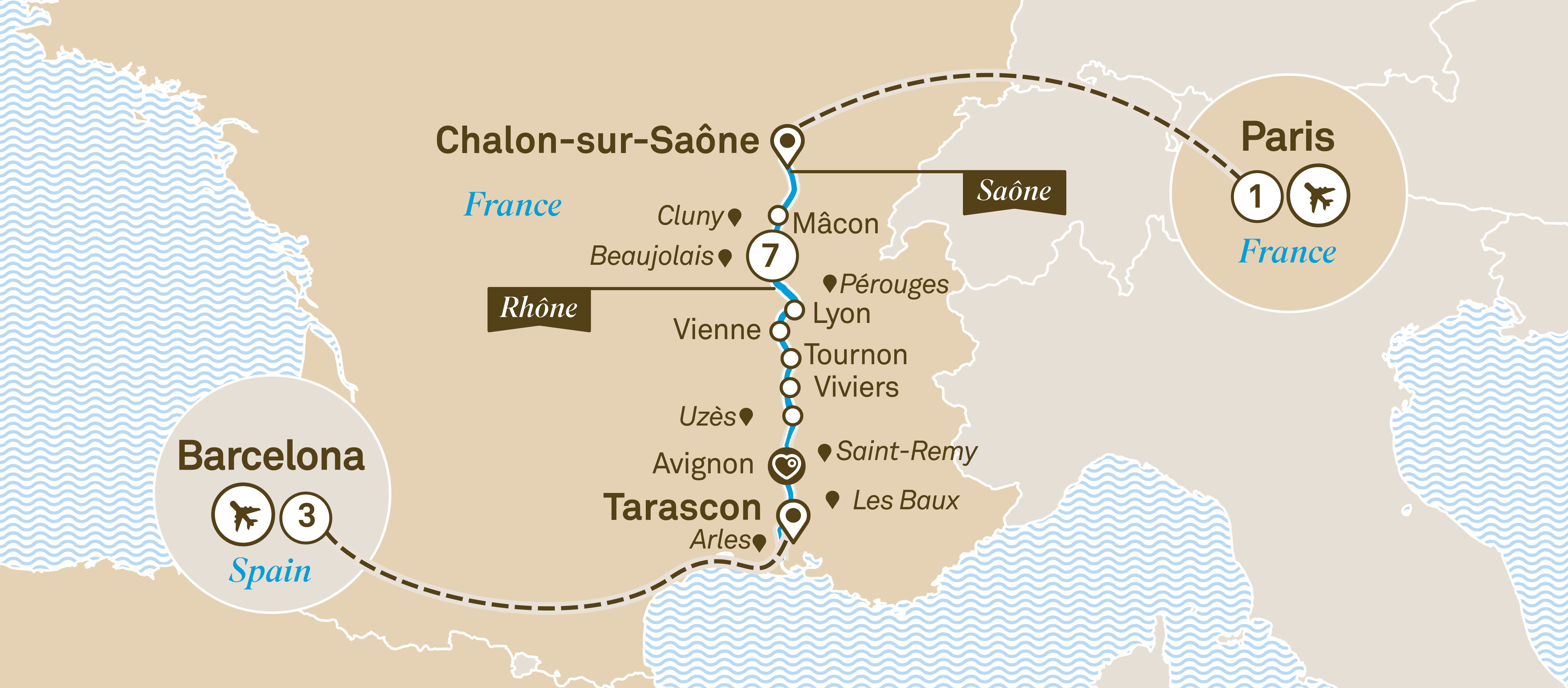 Enchanting Rhone with Barcelona Barcelona to Paris 2019