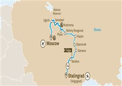 Imperial Russia Moscow to Stalingrad (Volgograd) 2020