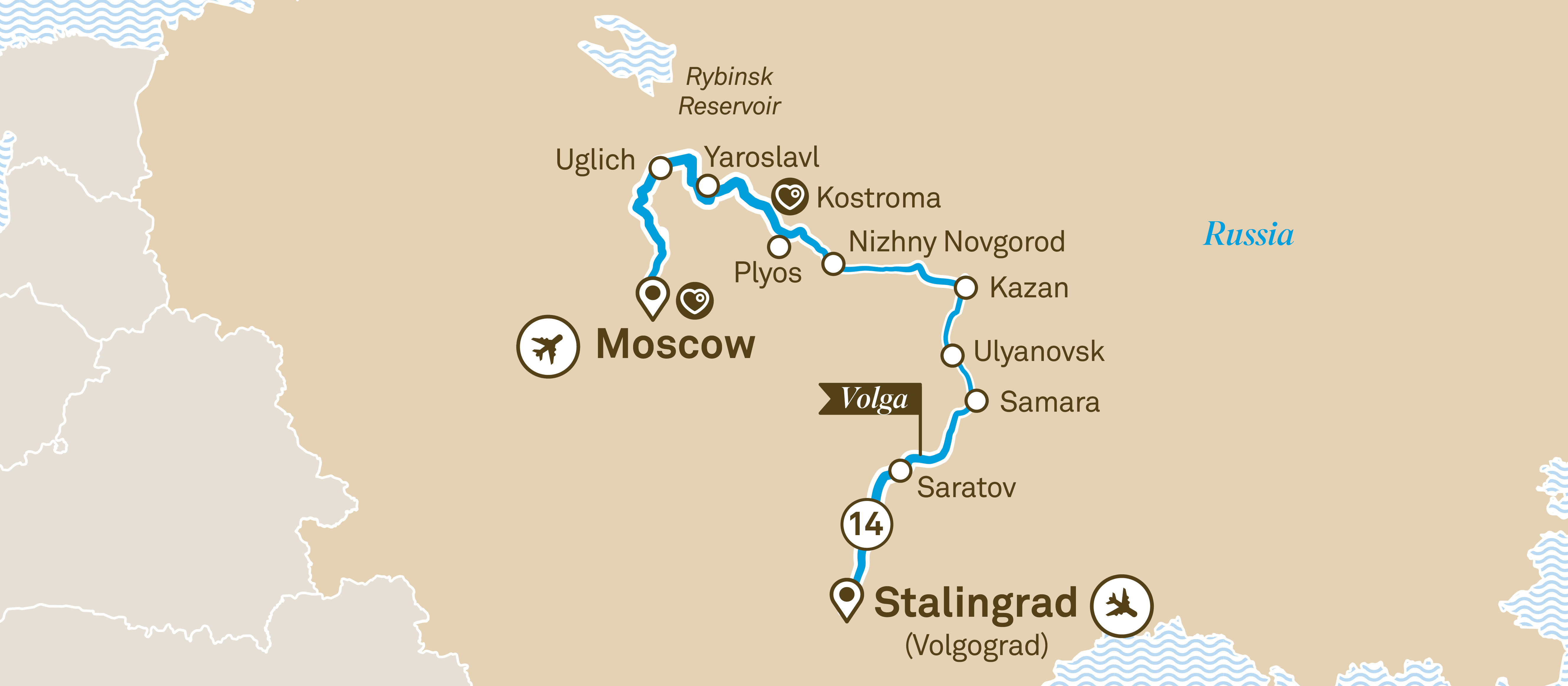 Imperial Russia Stalingrad (Volgograd) to Moscow 2020