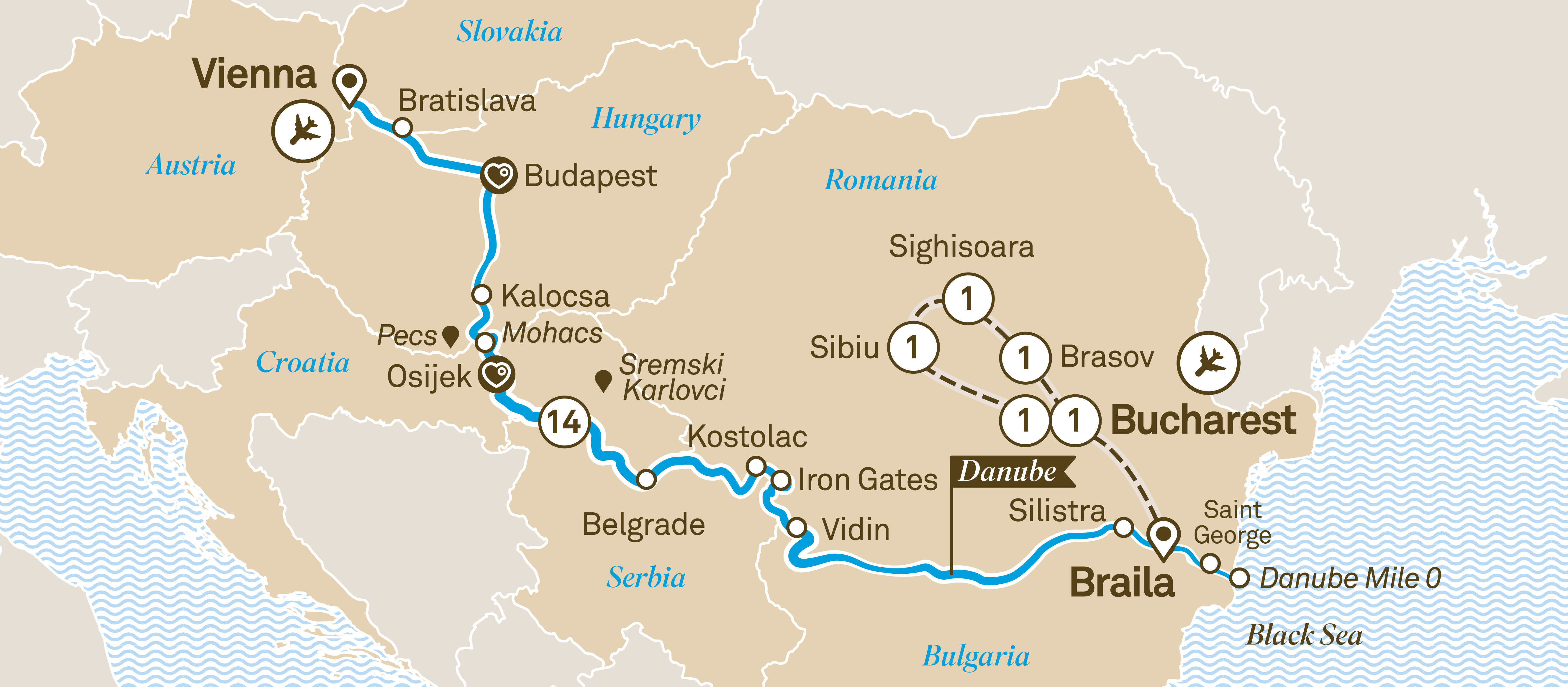 Danube Delta Discovery with Transylvania Bucharest to Vienna 2019