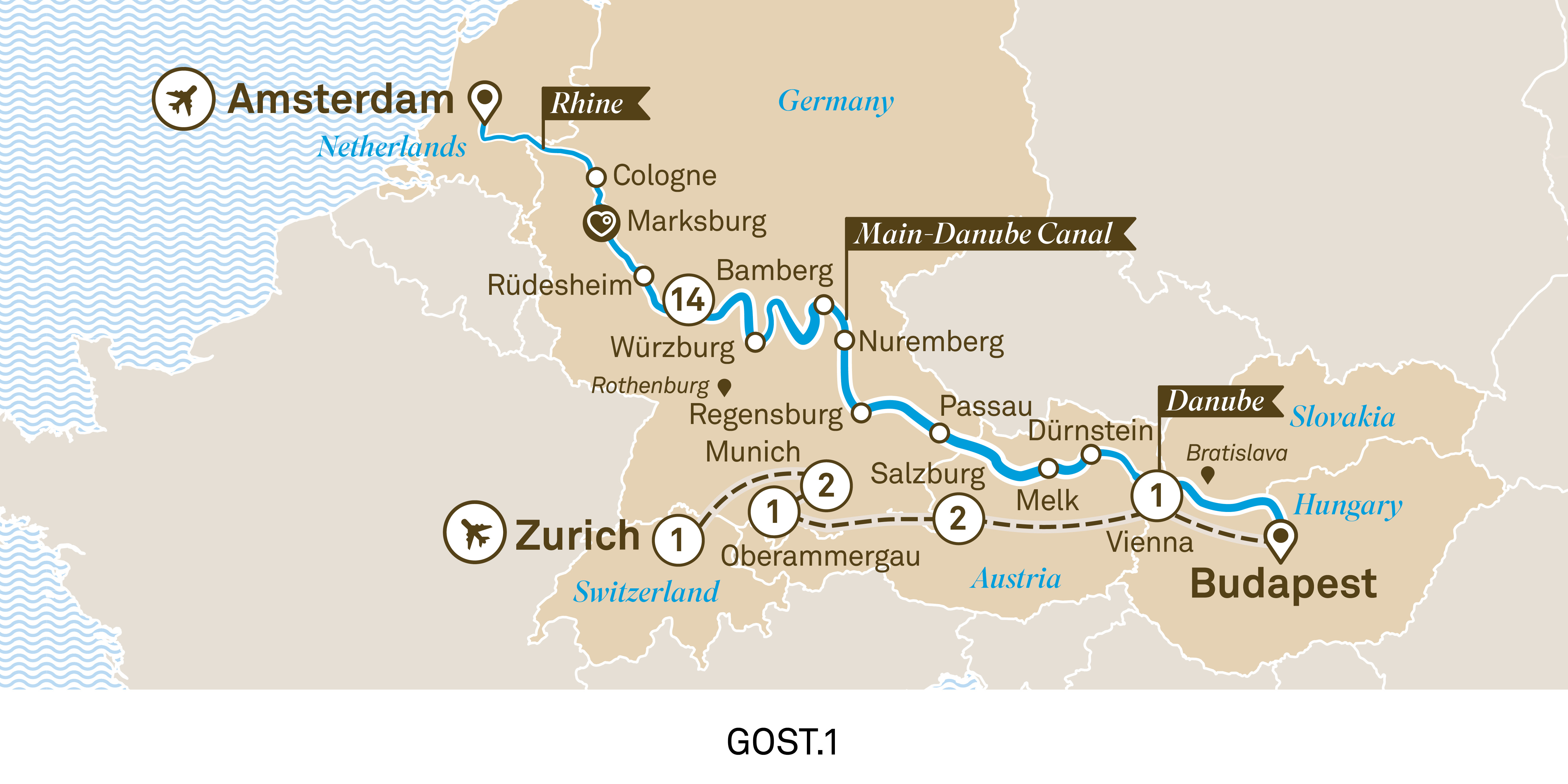 Jewels of Europe with Alpine Highlights Amsterdam to Zurich 2020