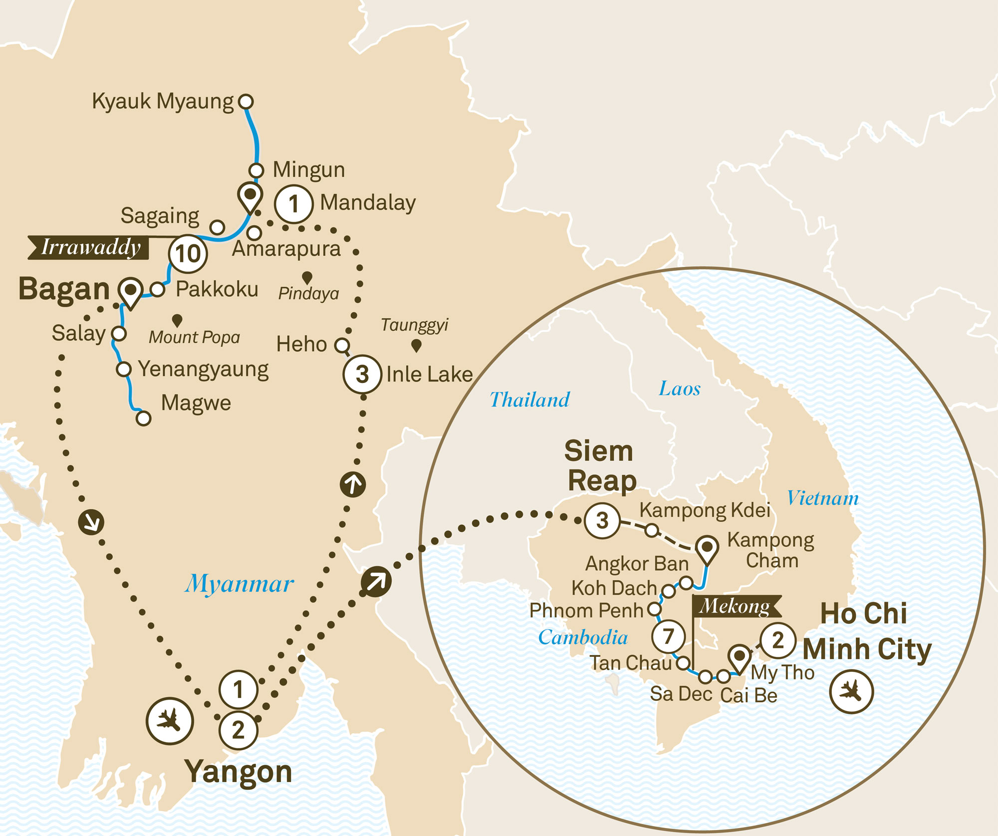 Mystical Myanmar & Treasures of the Mekong Yangon to Ho Chi Minh City 2019