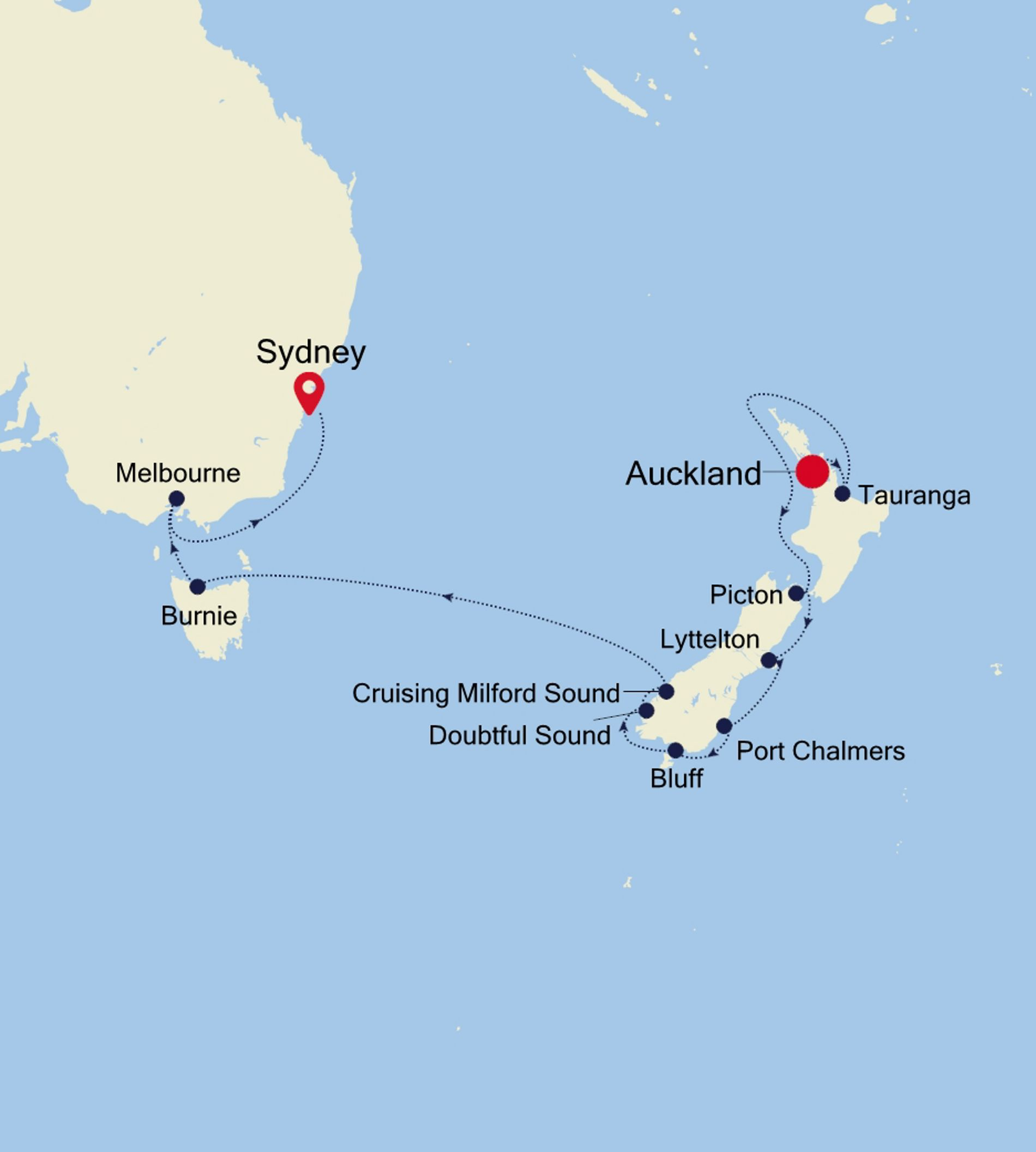 Discoveries at Sea: Auckland to Sydney