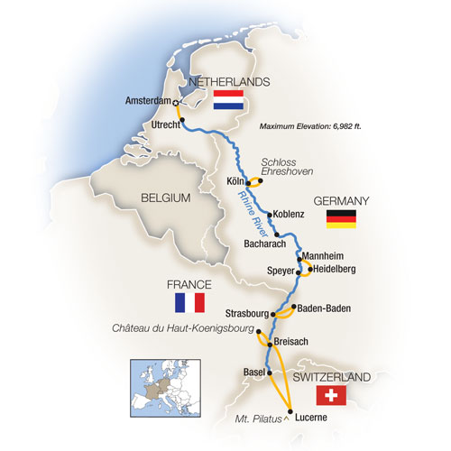 The Romantic Rhine: Amsterdam to Basel - Southbound 2018