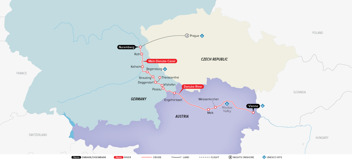 Authentic Danube & Prague: Prague to Vienna 2019