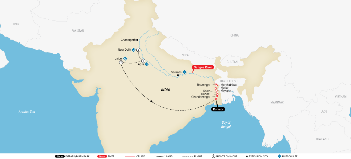 India's Golden Triangle & the Sacred Ganges: New Delhi to Kolkata 2020