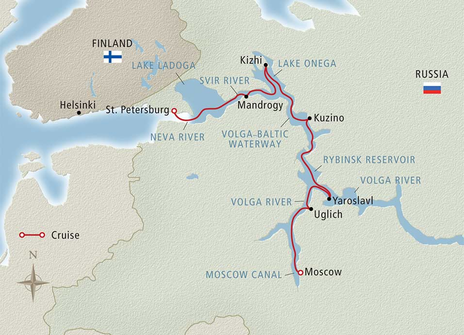 Waterways of the Tsars Moscow to St. Petersburg 2018