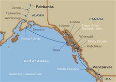 Alaskan Explorations & Denali Cruise Tour Vancouver Seward 2020 - 16 Days