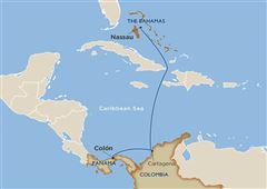 Watercolor Sunsets & White Bahamian Beaches: Colón to Nassau Colon Nassau 2021