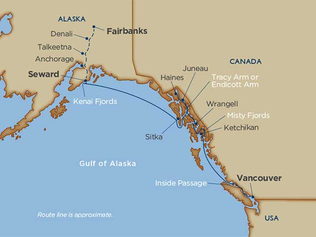 Alaskan Explorations & Denali Cruise Tour Vancouver Seward 2021 - 16 Days V1