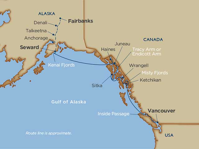 Alaskan Explorations & Denali Cruise Tour Vancouver Seward 2021 - 16 Days V2