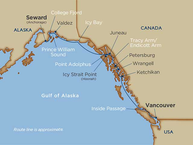 Alaska Glaciers & Prince William Sound  Vancouver 2021 - 12 Days V2