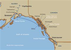 Alaskan Explorations & Denali Cruise Tour Vancouver Seward 2021 - 16 Days V3